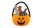 P.L.A.Y. Pet Lifestyle and You Halloween Pumpkin Basket - with 3 pcs of Squeaker-filled Candies