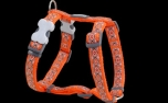Red Dingo Nylon Hundegeschirr, Snake Eyes Orange