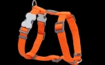 Red Dingo Nylon Hundegeschirr, Uni orange