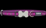 Red Dingo Nylon Hundehalsband, Pawprint Purple