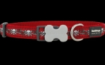 Red Dingo Nylon Hundehalsband, Skull Red
