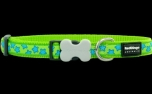 Red Dingo Nylon Hundehalsband, Stars Lime Green
