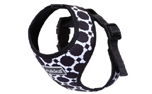 rukka Mini Comfort Print Harness Hundegeschirr, black/white