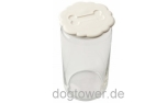 United Pets Leckerlie- Glas, weiss
