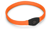 Visio Light LED Langhaar Leuchthalsband, orange