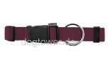 Hundehalsband Basic, Wolters, brombeer