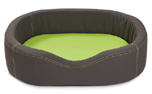 Wolters Cat & Dog VIP Lounge Nylon Hundebett, dunkelgrau/lime