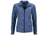 James & Nicholson Damen Melange Fleecejacke, blue-melange/navy