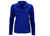 James & Nicholson Damen Melange Fleecejacke, royal-melange/blue