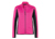 James & Nicholson Damen Strukturfleece Jacke, pink/carbon