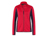 James & Nicholson Damen Strukturfleece Jacke, red/carbon