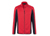 James & Nicholson Herren Strukturfleece Jacke, red/carbon