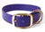 Mystique Halsband Biothane Deluxe (Messing), lila