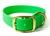 Mystique Halsband Biothane Deluxe (Messing), neon-grün