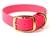 Mystique Halsband Biothane Deluxe (Messing), neon-pink