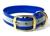 Mystique Halsband Biothane Deluxe (Messing), reflex-blau