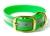 Mystique Halsband Biothane Deluxe (Messing), reflex-grün