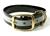 Mystique Halsband Biothane Deluxe (Messing), reflex-schwarz