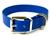 Mystique Hundehalsband Biothane Messing blau