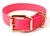 Mystique Hundehalsband Biothane (Messing), neon-pink