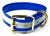 Mystique Hundehalsband Biothane (Messing), reflex-blau