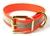 Mystique Hundehalsband Biothane (Messing), reflex-orange