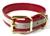 Mystique Hundehalsband Biothane (Messing), reflex-rot