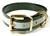 Hundehalsband Biothane (Messing), reflex-schwarz