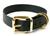 Mystique Hundehalsband Biothane Messing, schwarz