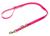 Mystique Biothane (gold) verstellbare Leine Führleine (MESSING Karabiner), pink gold