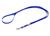 Mystique Biothane (gold) verstellbare Leine Führleine (Standard Karabiner), blau