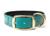 Mystique Biothane Halsband Deluxe Neopren (MESSING), beta grün
