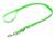 Mystique Biothane REFLEX verstellbare Leine Führleine (Standard Karabiner), grün gold