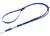Mystique Biothane verstellbare Leine Führleine (Standard Karabiner, VERNÄHT), blau