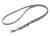 Mystique Biothane verstellbare Leine Führleine (Standard Karabiner, VERNÄHT), grau