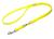 Mystique Biothane verstellbare Leine Führleine (Standard Karabiner, VERNÄHT), neongelb
