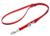 Mystique Biothane verstellbare Leine Führleine (Standard Karabiner, VERNÄHT), rot