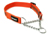 Mystique gummiertes Hundehalsband mit Durchzugskette, neonorange