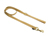 Mystique Nylon Leine (MESSING Karabiner), beige