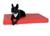 padsforall Hundematte Nuvola aus Kunstleder gesteppt, rot