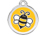 Red Dingo Polierte rostfreie Stahl- Hundemarke Bumble Bee gelb, inklusive Gravur