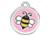 Red Dingo Polierte rostfreie Stahl- Hundemarke Bumble Bee rosa, inklusive Gravur