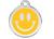 Red Dingo Polierte rostfreie Stahl- Hundemarke Smiley gelb, inklusive Gravur