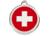Red Dingo Polierte rostfreie Stahl- Hundemarke Swiss Cross rot, inklusive Gravur