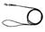 rukka Mini comfort leash Rundleine 6mm, schwarz