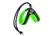 Tre Ponti Hundegeschirr Easy Fit Soft Mesh (reflektierend) mit Kordelzug, grün