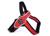 Tre Ponti Primo Fluo Hundegeschirr (mit reflektierendem Rand), rot